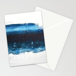 Lake Michigan: a pretty, minimal abstract piece in icy blues by Alyssa Hamilton Art Stationery Cards