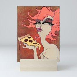 Pizza Witch Mini Art Print