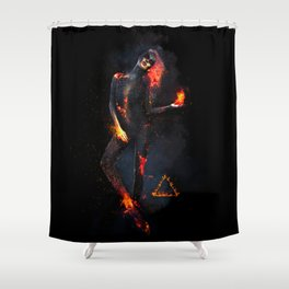 Fire Witch - Elements Collection Shower Curtain