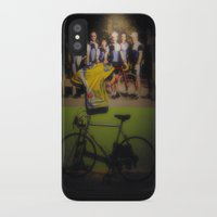 tour de france iPhone & iPod Cases featuring tour de france by Emanuele Reina