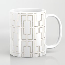 Simply Mid-Century in White Gold Sands Coffee Mug