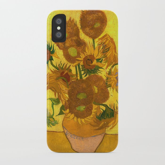Vincent Van Gogh Fifteen Sunflowers In A Vase Iphone Case By
