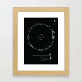Voyager Golden Record Fig. 1 (Black) Framed Art Print