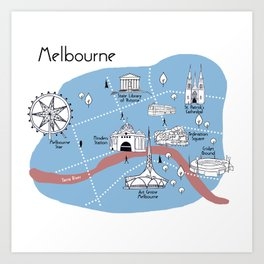 Mapping Melbourne - Original Art Print