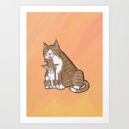 Mother Cat Art Print