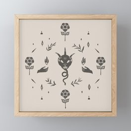 Snake Tongue in Grey & Cream Framed Mini Art Print
