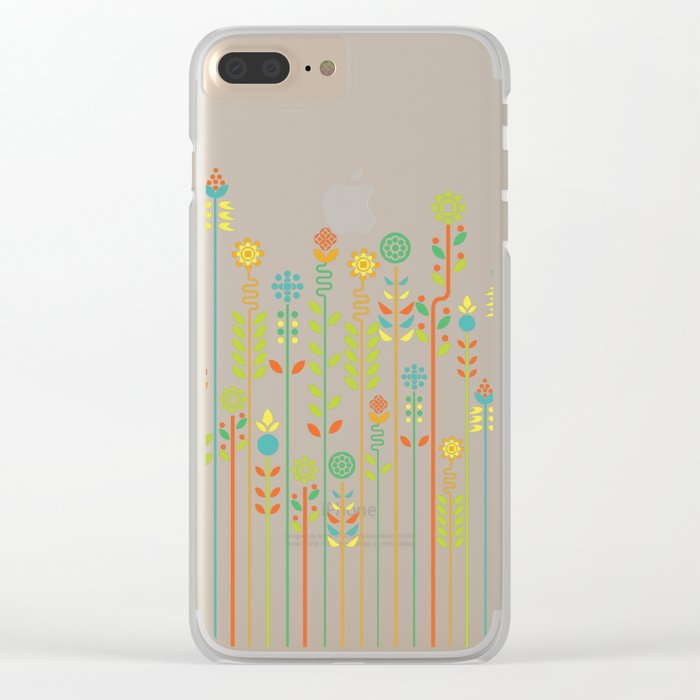 Overgrown flowers Clear iPhone Case