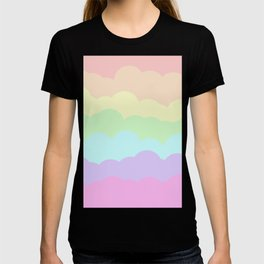 Rainbow Ombre Clouds T-shirt