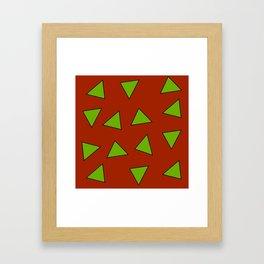 Rocko's Triangles Framed Art Print