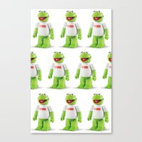 kermit Canvas Prints featuring Kermit by MrWhite