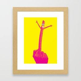 """The F Man"" / Yellow Framed Art Print"