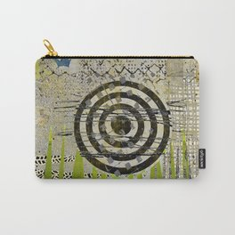 Bullseye Abstract Art Collage Carry-All Pouch