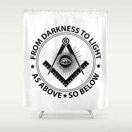 Freemasonry emblem Shower Curtain