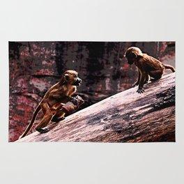 monkeys circus Rug