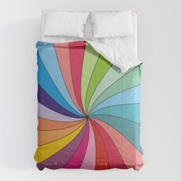 Rainbow colorful spiral Comforters
