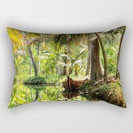 Green Oasis Rectangular Pillow