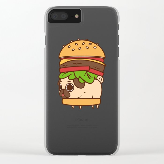 Puglie Burger Clear iPhone Case
