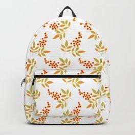 Natural Red White Berries Orange Leaves Flow Backpack