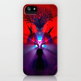 Magnificent Fantasy Forest Spirit Little Boy Mystic Cube Ultra HD iPhone Case