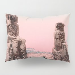 Colossus of Memnon - Luxor Egypt - Photochrom Circa 1900 Pillow Sham