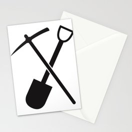 shovel and pickaxe Stationery Cards