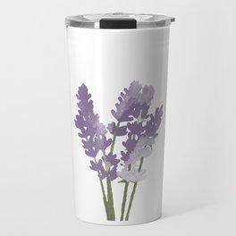 Watercolor Lavender Travel Mug