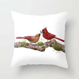 Northern  Cardinals Throw Pillow
