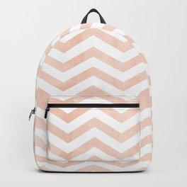 Coral Stripes zig-zag Backpack