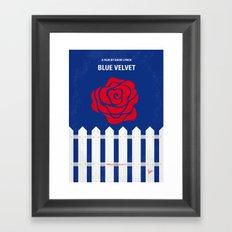 No170 My BLUE VELVET minimal movie poster Framed Art Print