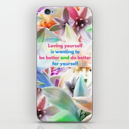 Be Better for yourself iPhone Skin
