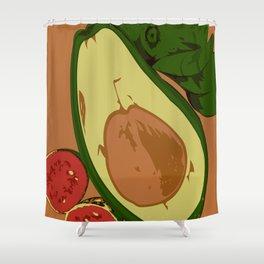 Avocado and guavas Shower Curtain