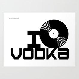 LOVE VODKA Art Print