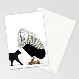 A Black Cat Named Ollie Stationery Cards