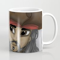 jack sparrow Mugs featuring Captain Jack Sparrow by BellaG