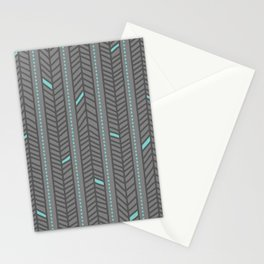 Birdsong Feather Stripe Stationery Cards