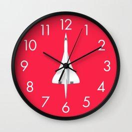 Concorde Supersonic Jet Airliner - Crimson Wall Clock