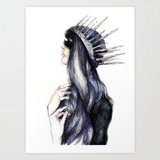 Ice Queen // Fashion Illustration Art Print