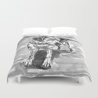 lab Duvet Covers featuring lab by Jenn Steffey