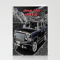 jeep Stationery Cards featuring JEEP JPATW by Dmarmol