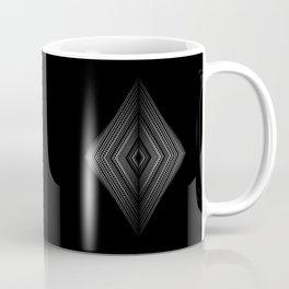 Fading symmetry in geometric diamond shapes Coffee Mug