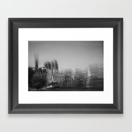 then finds me in black + white Framed Art Print