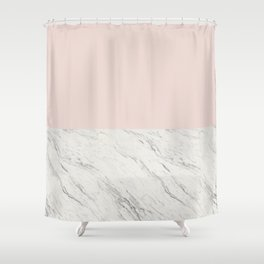 Moon Marble Shower Curtain