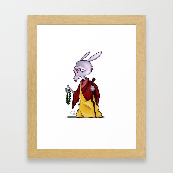 My Digital Zoo - Wise Rabbit Framed Art Print