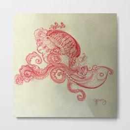 dream in red ink Metal Print