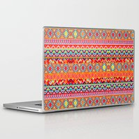 india Laptop & iPad Skins featuring India Style Pattern (Multicolor) by Diego Tirigall