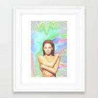 sasha grey Framed Art Prints featuring SASHA by POSH OUTSIDERS