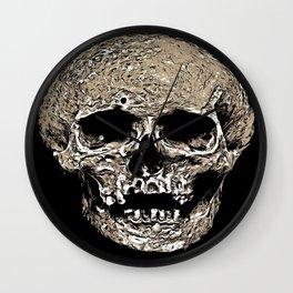 Full Skull With Rotting Flesh Vector Wall Clock