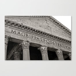 The Pantheon black and white Canvas Print