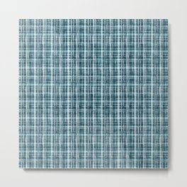 simple pattern in blue small cell. Metal Print