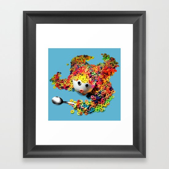 Clumsy Mornings Framed Art Print